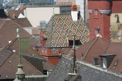 Basel Stadt, Zentrum von Oben, Vogelperspektive, Rathaus, Turm
