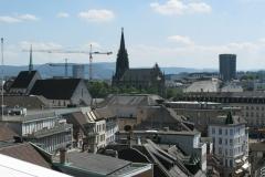 Basel Stadt, Zentrum von Oben, Vogelperspektive
